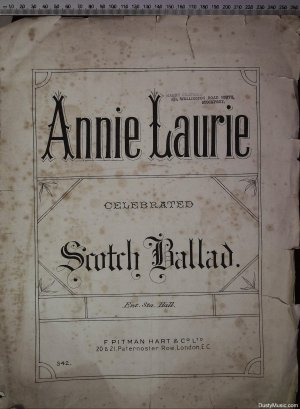 Annie Laurie - Old Sheet Music by Pitman Hart