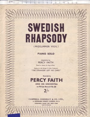 Swedish Rhapsody - Old Sheet Music by Campbell Connelly