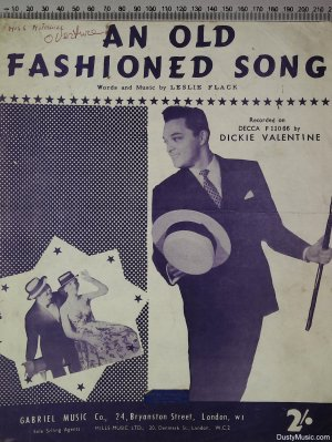 An old fashioned song - Old Sheet Music by Gabriel