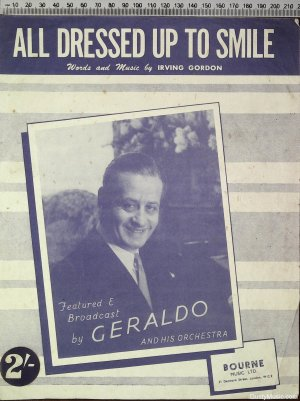 All dressed up to smile - Old Sheet Music by Bourne