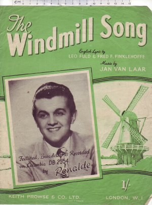 The windmill song - Old Sheet Music by Keith Prowse