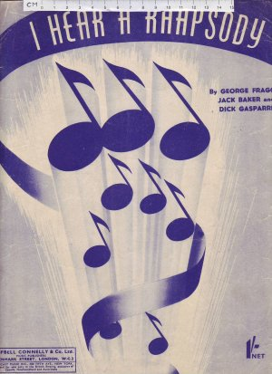 I hear a rhapsody - Old Sheet Music by Campbell Connelly