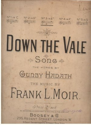 Down the vale - Old Sheet Music by Boosey & Co