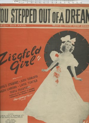 You stepped out of a dream - Old Sheet Music by Francis Day & Hunter