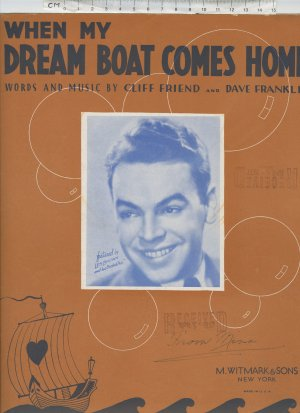 When my dreamboat comes home - Old Sheet Music by Feldman