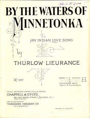 By the waters of Minnetonka - Old Sheet Music by Chappell