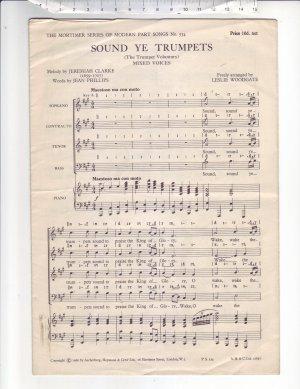 Sound ye trumpets - Old Sheet Music by Ascherberg Hopwood & Crew Ltd