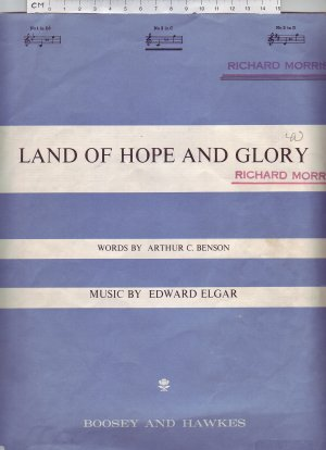 Land of hope and glory - Old Sheet Music by Boosey & Hawkes