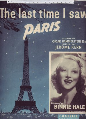 The last time I saw Paris - Old Sheet Music by Chappell