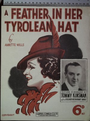 A feather in her Tyrolean hat - Old Sheet Music by Campbell Connelly
