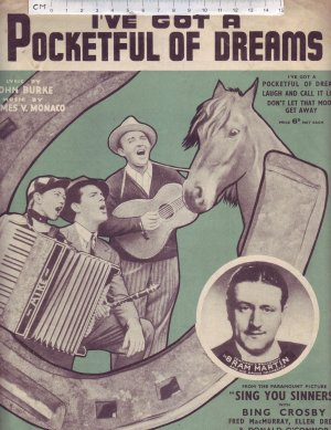 I've got a pocketful of dreams - Old Sheet Music by Campbell Connelly