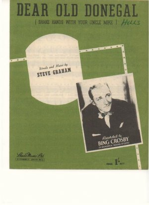 Dear old Donegal - Old Sheet Music by Leeds