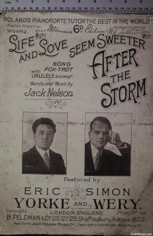 After the storm - Old Sheet Music by Feldman