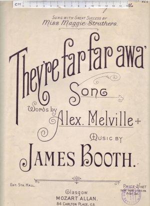 They're far far awa' - Old Sheet Music by Mozart Allan