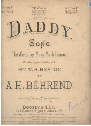 Daddy - Old Sheet Music by Boosey & Co Ltd