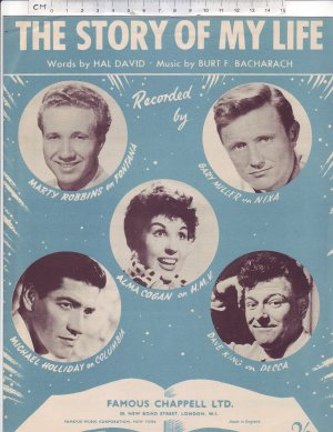 The story of my life - Old Sheet Music by Chappell