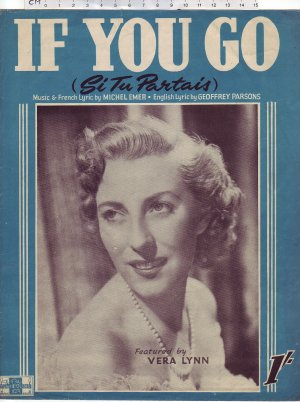 If you go - Old Sheet Music by Peter Maurice