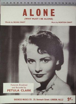 Alone - Old Sheet Music by Duchess Music
