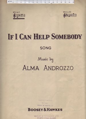 If I can help somebody - Old Sheet Music by Boosey & Hawkes
