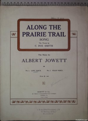 Along the prairie trail - Old Sheet Music by Schott & Co