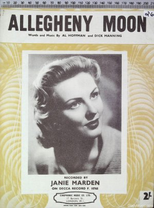 Allegheny Moon - Old Sheet Music by Cinephonic Music Co Ltd