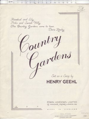 Country gardens - Old Sheet Music by Edwin Ashdown