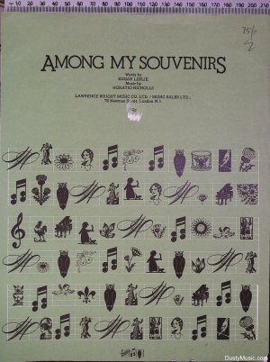 Among my souvenirs - Old Sheet Music by Lawrenc Wright