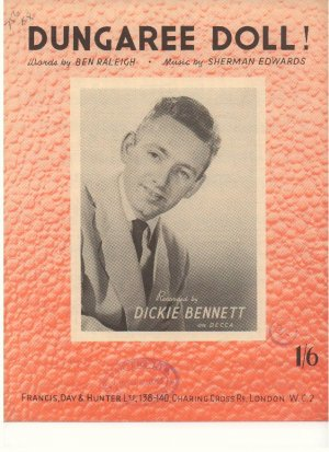 Dungaree doll - Old Sheet Music by Francis Day & Hunter