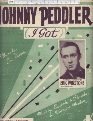 Johnny Peddler - Old Sheet Music by Francis Day & Hunter Ltd