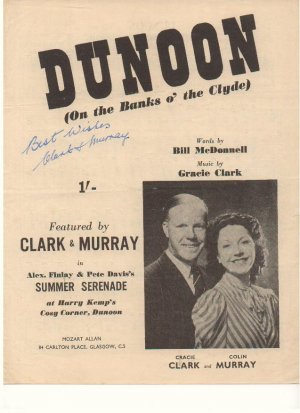 Dunoon - Old Sheet Music by Mozart Allan