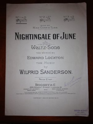 Nightingale of June - Old Sheet Music by Boosey & Co