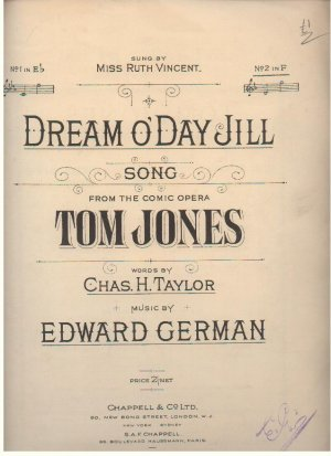 Dream o'day Jill - Old Sheet Music by Chappell