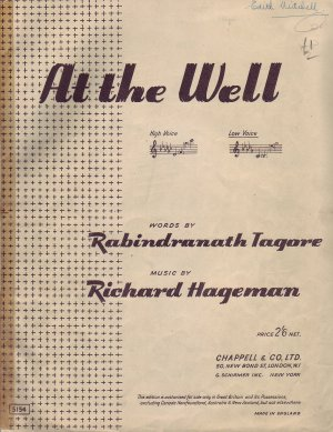 At the well - Old Sheet Music by Chappell
