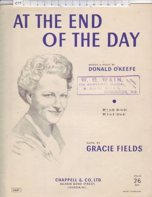 At the end of the day - Old Sheet Music by Chappell