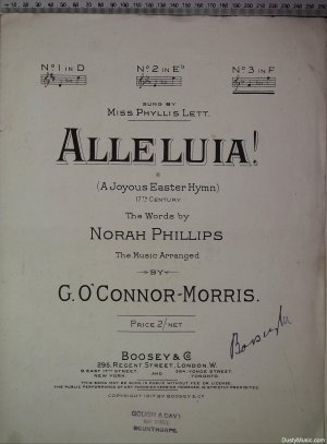 Alleluia - Old Sheet Music by Boosey & Co