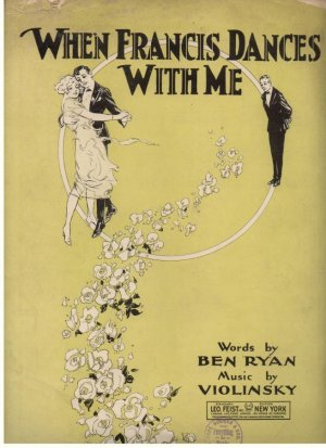 When Francis dances with me - Old Sheet Music by Francis Day & Hunter