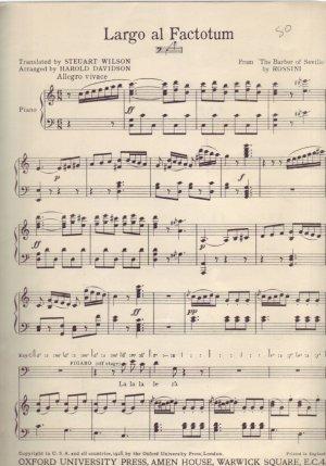 Largo al factotum - Old Sheet Music by Oxford University Press