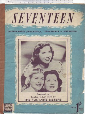 Seventeen - Old Sheet Music by World Wide Music