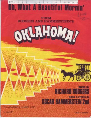 Oh what a beautiful mornin' - Old Sheet Music by Chappell