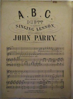 A B C - Old Sheet Music by Pitman Hart