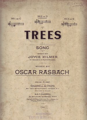Trees - Old Sheet Music by Chappell