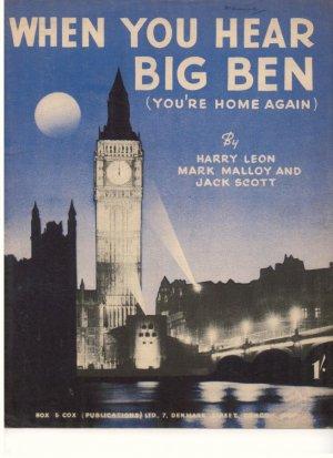 When you hear Big Ben - Old Sheet Music by Box & Cox