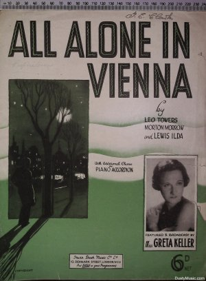 All alone in Vienna - Old Sheet Music by Dash