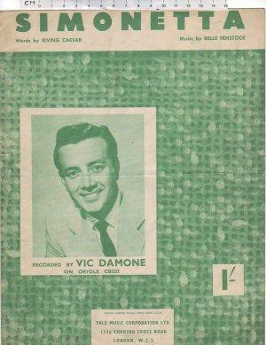 Simonetta - Old Sheet Music by Yale