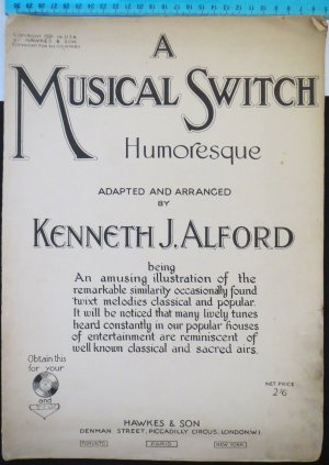 A musical switch - Old Sheet Music by Hawkes