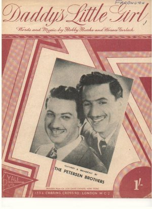 Daddy's little girl - Old Sheet Music by Yale
