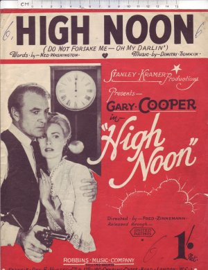 High noon - Old Sheet Music by Robbins
