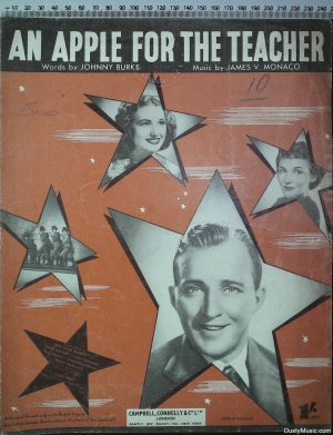 An apple for the teacher - Old Sheet Music by Campbell Connelly
