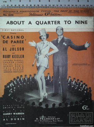 About a quarter to nine - Old Sheet Music by Feldman