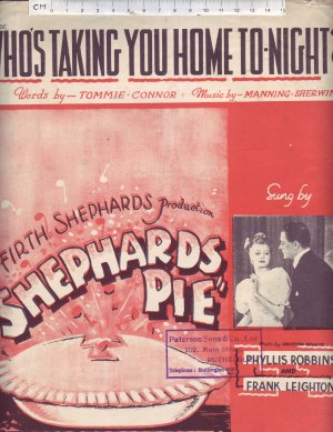 Who's taking you home tonight - Old Sheet Music by Francis Day & Hunter